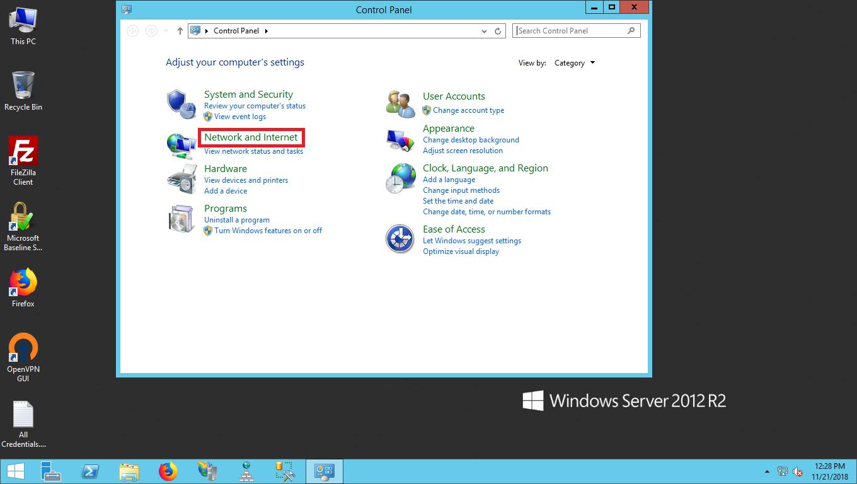 تنظیم IP اصلی در ویندوز سرور