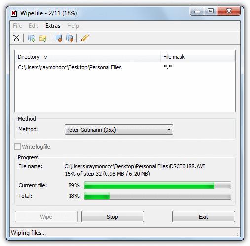 پاک کردن فایل با استفاده از Wipe File