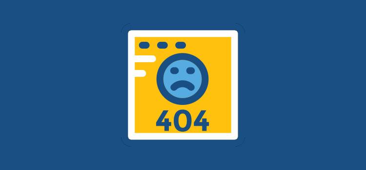 مشاهده خطای 404 هنگام حذف یک صفحه وردپرس